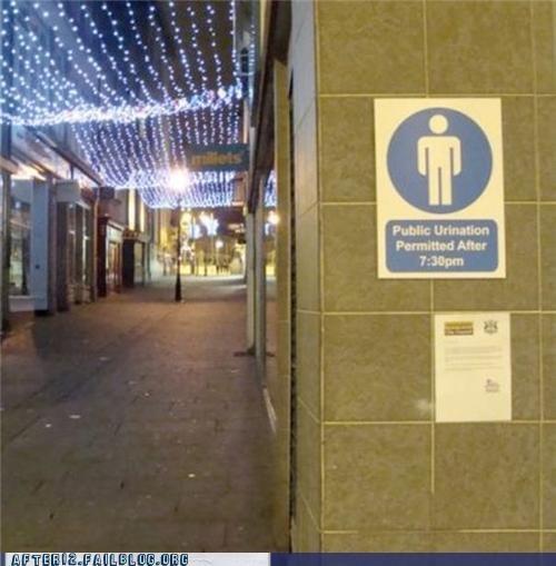 helpful outdoors peeing restroom sign - 5185924352