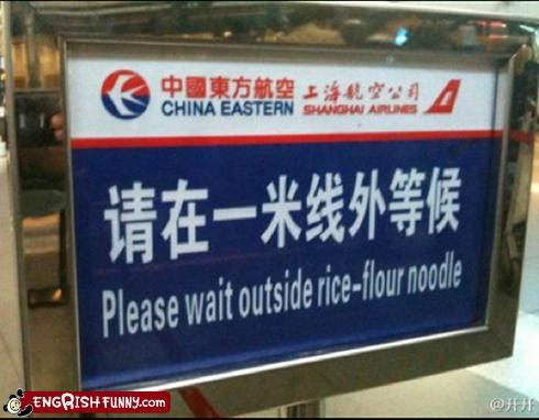 accident accidental food airline airport food noodle sign takeout