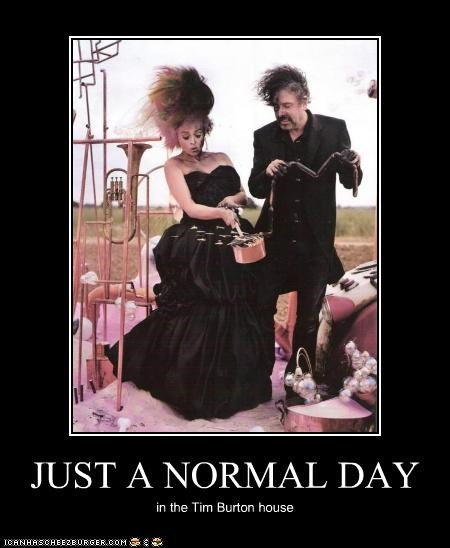 actor,celeb,demotivational,director,funny,helena bonham-carter,tim burton