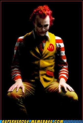 joker photoshop Random Heroics Ronald McDonald