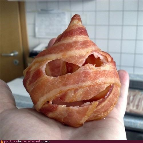 bacon,best of week,carving,face,halloween,wtf