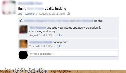 burn facebook funny status - 5186596352