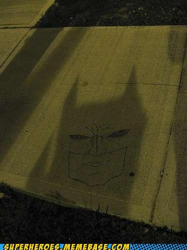 Awesome Art,batman,shadow,sidewalk