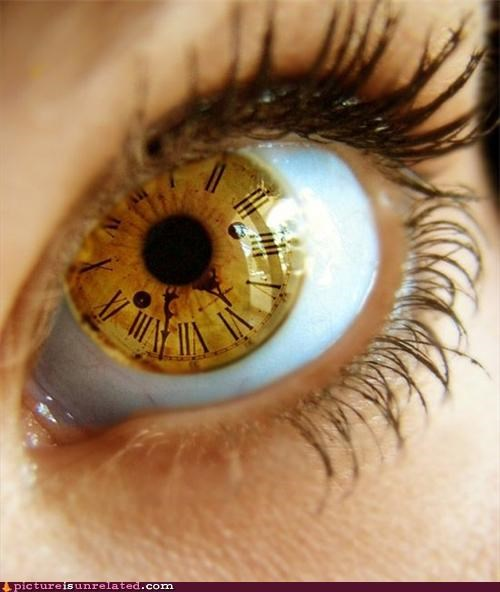 art best of week clock creepy eye wtf