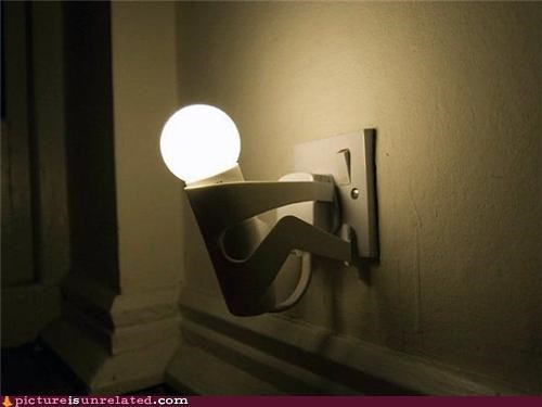 light bulb,man,wtf