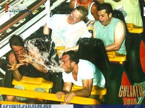 gross,photo finish,puke,roller coaster,thar she blows,vomit