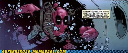 deadpool mario sewer pipe Straight off the Page swimming - 5187783168
