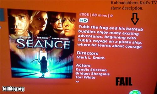 Rubbadubbers gone bad! Netflix horror movie description switched with a children's television show description.