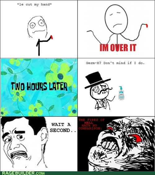 burning germ-x Rage Comics wound