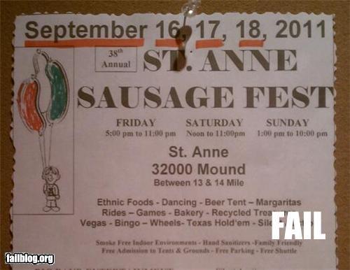 sausage fest it's the 35th annual sausage fest