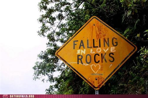graffiti,pun,rocks,sign,We Are Dating