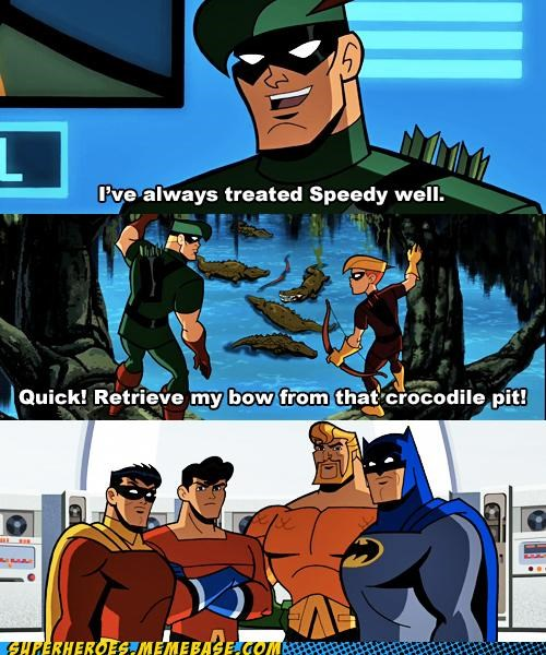 aqua lad aquaman batman green arrow robin speedy Super-Lols - 5189437696