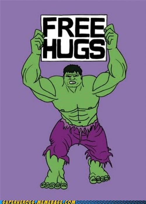 Awesome Art bad idea hugs hulk - 5189439232