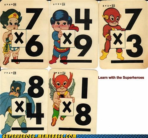 batman flash flash cards Hawkman Helpful Heroes superman wonderwoman - 5189442560