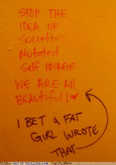 beauty fat IRL self image - 5189835776