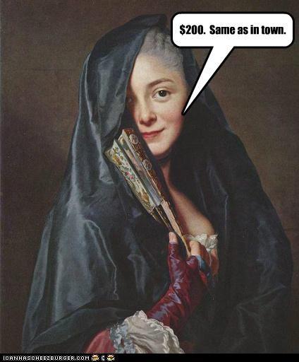 art color funny lady painting portrait - 5190110976