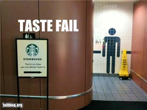 bathroom,failboat,g rated,juxtaposition,signs,Starbucks