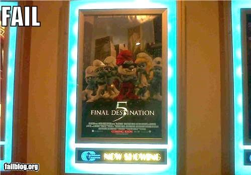 failboat Final Destination g rated movie reference movies poster smurfs