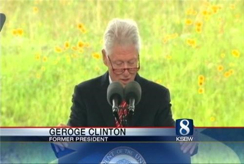 bill clinton,Confused Chyron,George Clinton