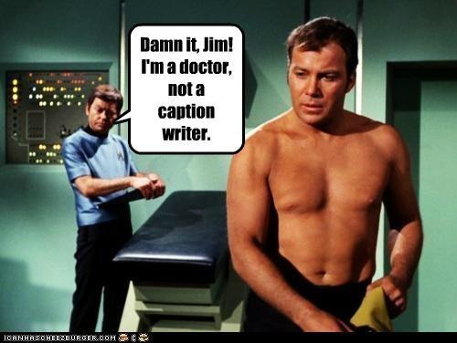 actor celeb DeForest Kelley funny sci fi Star Trek TV William Shatner - 5193182720
