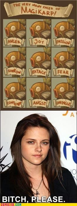expression,kristen stewart,magikarp,many faces,the internets