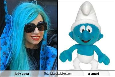 blue lady gaga musicians pop singers singers smurf - 5194019584