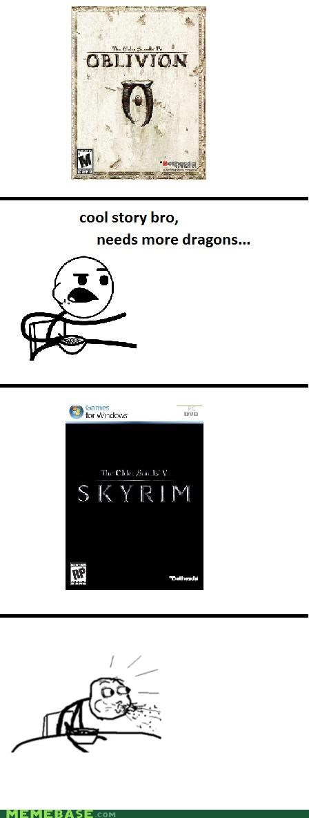 cereal guy elder scrolls listened oblivion Skyrim video games - 5194435584