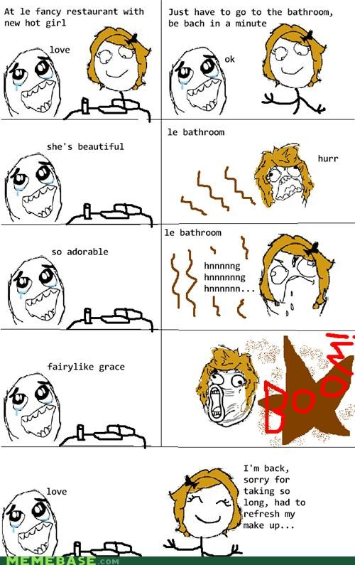 girls makeup pooptimes Rage Comics - 5194440960