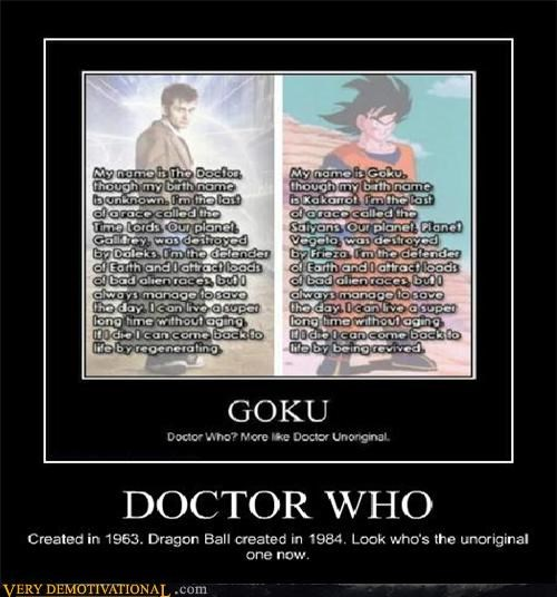 doctor who,dragon ball,goku,hilarious,unoriginal