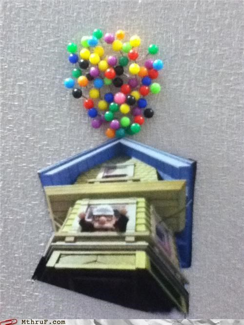 Balloons,bulletin board,pins,up