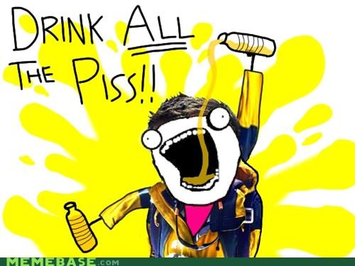 all the things,background,bear grylls,drink,piss,water