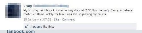 I see what you did there Music neighbors witty status