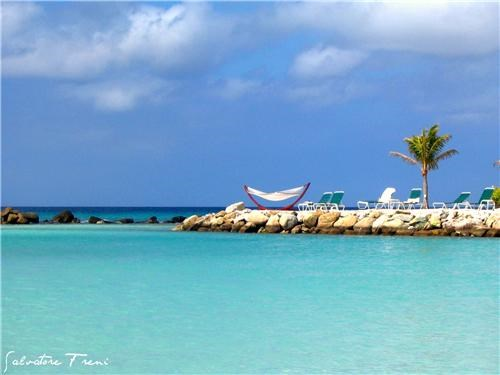 aruba blue caribbean clouds getaways hammock ocean relaxation Tropical water - 5195795968