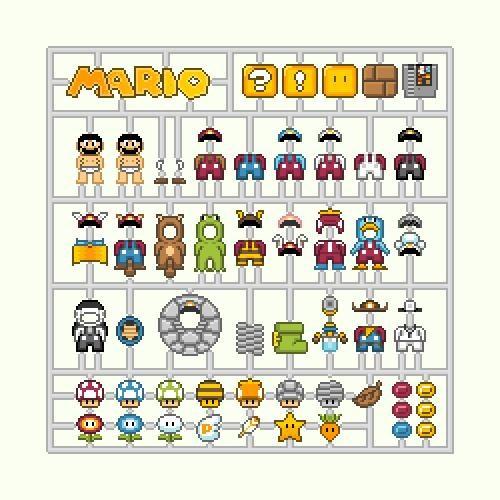 8 bit,art,Fan Art,link,mario,Metroid,model kits,models,samus,Toyz,zelda