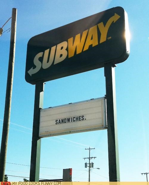 obvious sandwiches sign Subway - 5195861504