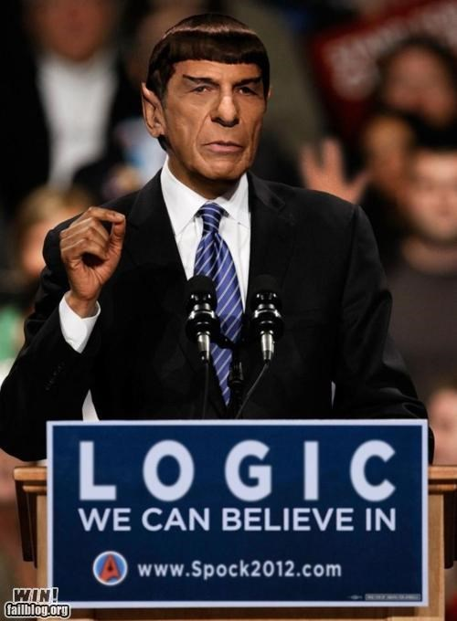 2012,election,Hall of Fame,obama,photoshop,photoshopped,politics,Spock,Star Trek