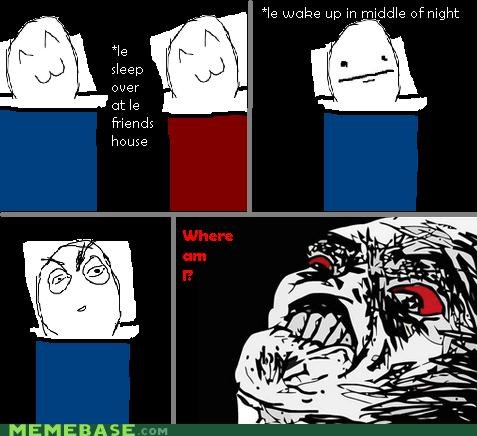 Awkward Rage Comics scary sleep over - 5196035584