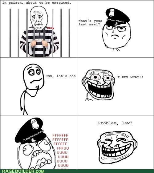 Last Meal prison Rage Comics t rex - 5196077568