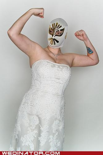 bride,funny wedding photos,luchador,mexican wrestling