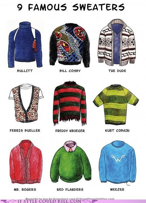 cool accessories infographic sweaters the simpsons - 5196173824