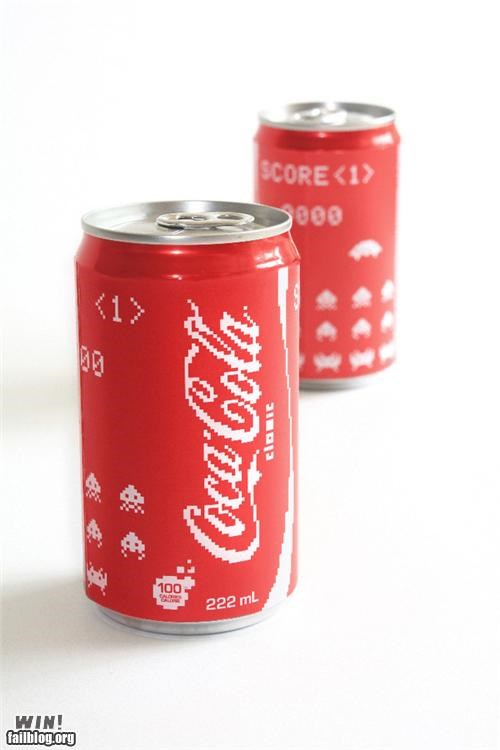 8 bit coca cola coke design nerdgasm soda space invaders video game - 5196249600