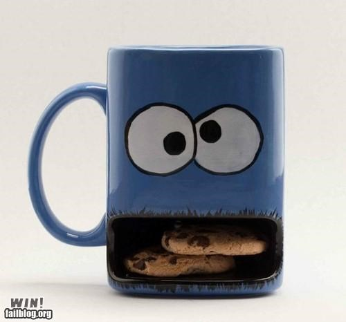 coffe coffee mug cookies Cookie Monster cup design home mug Sesame Street - 5196395008