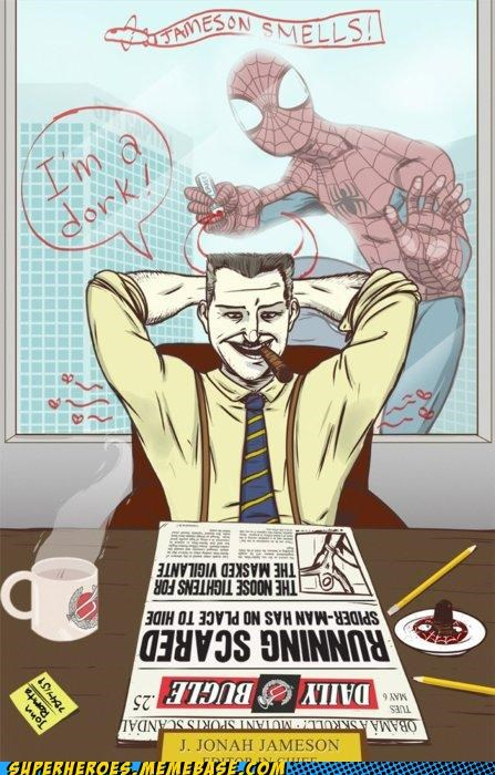 Awesome Art drawings jonah jameson prank Spider-Man - 5196468480