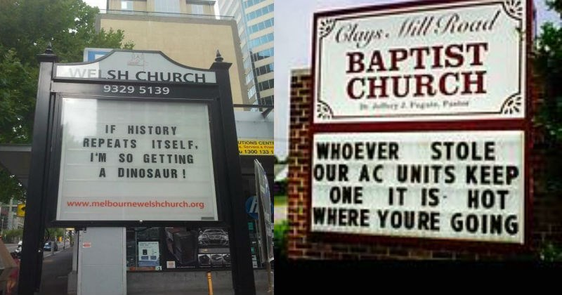pics church signs witty photos church funny - 5196549