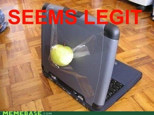 apple computer Dell fruit Memes seems legit - 5196660736