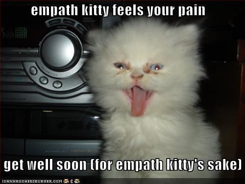 empath kitty feels your pain get well soon (for empath