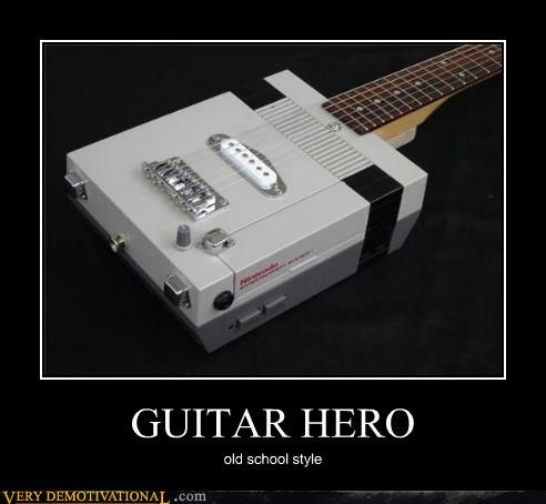 Guitar Hero hilarious nintendo old school - 5197455616