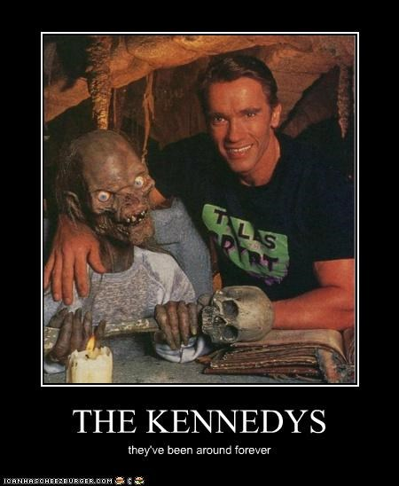 actor Arnold Schwarzenegger celeb demotivational funny tales from the crypt The Crypt Keeper TV