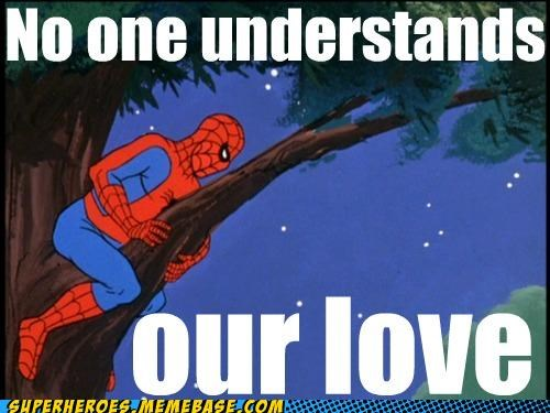 love peeping Spider-Man Super-Lols tree window - 5197763840