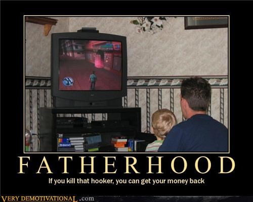 fatherhood good idea hilarious video games - 5198307328